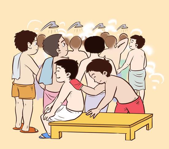 """腊月二十六洗浴为""""洗福禄"""""""