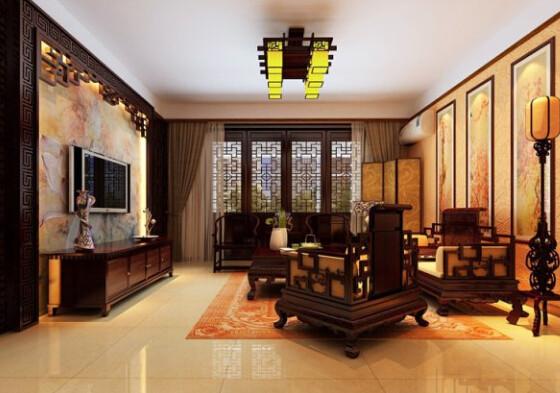 客厅装修风格大全之中式风格